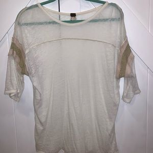 Free People see through 3/4 length sleeves